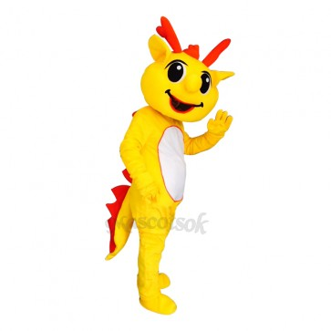 High Quality Dragon with White Belly Cute Mascot Costume Adult Party Carnival Halloween Christmas Mascot