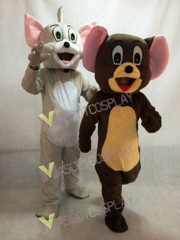Tom Cat and Jerry Rat from Tom and Jerry Mouse Mascot Costume