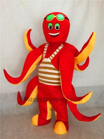 Ocean Creature Red Octopus Mascot Costume