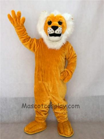 Yellow Sleepy Lion Mascot Costume