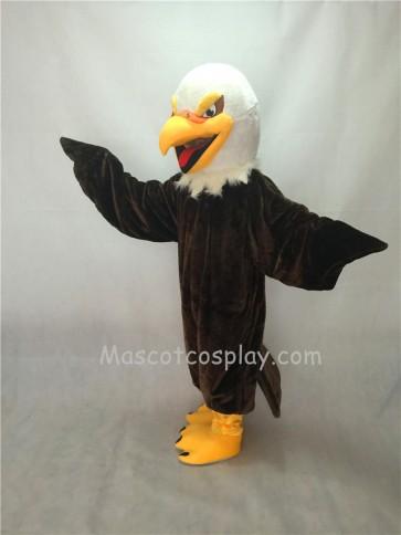 Cute Short Hair Brown Eagle Mascot Costume