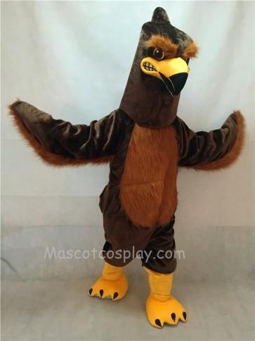 Brown Majestic Hawk Mascot Costume