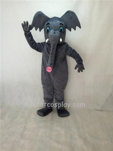 Cute New Gray African Elephant Mascot Costume