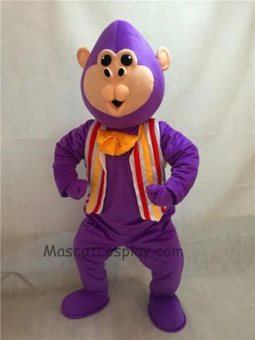Purple Bubba Gorilla Monkey Mascot Costume