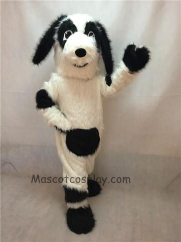White and Black Fido Dog Mascot Costume