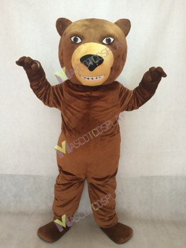 Animal Fierce Brown Grizzly Bear Mascot Costume