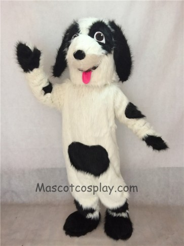 Fido Dog Mascot Costume with Red Tongue