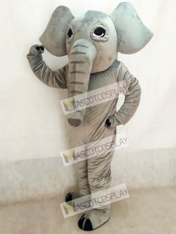 Adorable Realistic Elephant Mascot Costume
