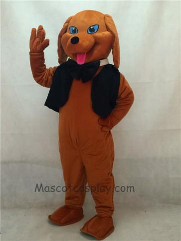 Brown Dachshund Dog with Vest & Tie Mascot Costume