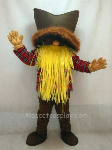 New Miner Mascot Costume with a Brown Hat
