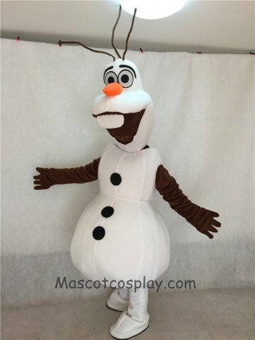High Quality Frozen Olaf Snowman Mascot Costume