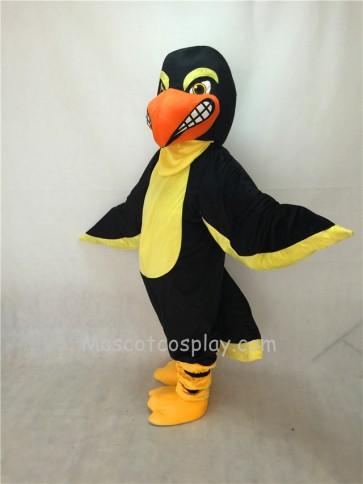 Fierce New Black Falcon Mascot Costume