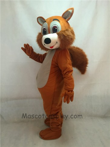 New Brown Squirrel Mascot Costume with Grey Belly