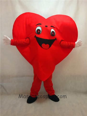 Red Love Heart Mascot Costume Fancy Dress for Valentine Outfit