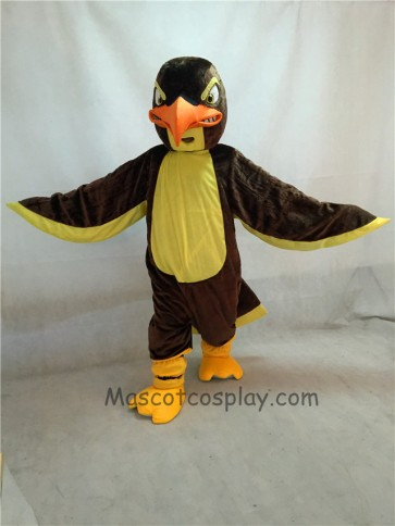New Fierce Brown and Yellow Falcon Mascot Costume