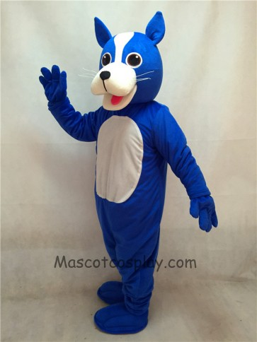 Blue Boston Terrier Dog Mascot Costume