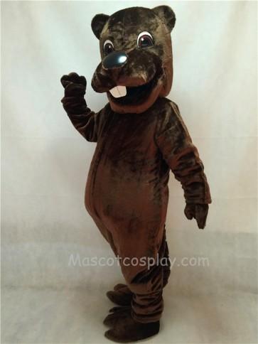 New Barney Beaver Mascot Costume