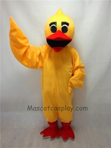 Cute Yellow Duck Mascot Costume
