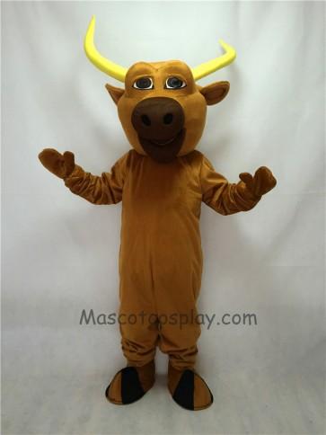 Cute Brown Texas Longhorn Mascot Costume