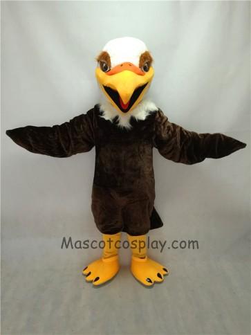 Fierce Short Hair Brown Eyes Eagle Mascot Costume
