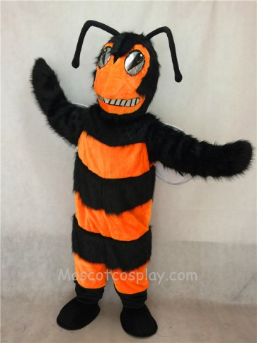 Orange and Black Bee/Hornet Mascot Costume
