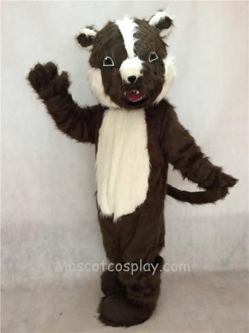 Brown Badger Mascot Costume