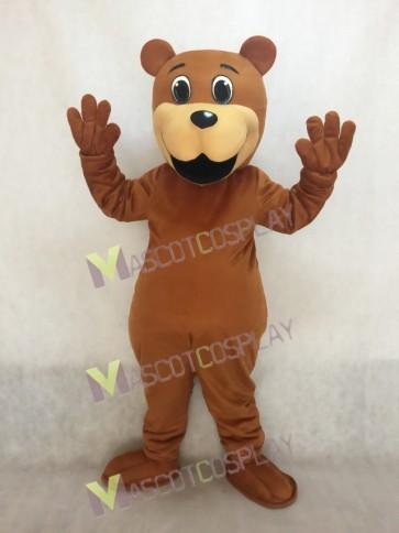Brown Benny Bear Mascot Costume