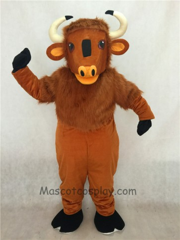 Adult Friendly Brown Buffalo Mascot Costume