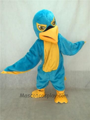 Blue and Yellow Hawk / Falcon Mascot Costume