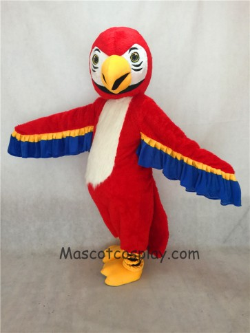 Red Macaw Parrot Bird Mascot Costume