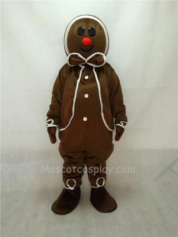 Cute Gingerbread Boy (on left) Mascot Costume