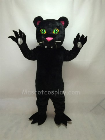 Cute New Black Panther Mascot Costume with Green Eyes