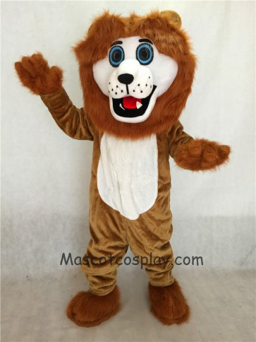 Brown Andy Lion Mascot Costume