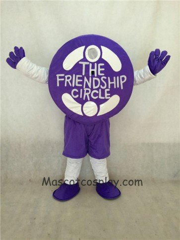 Purple Friendship Circle Mascot Costume