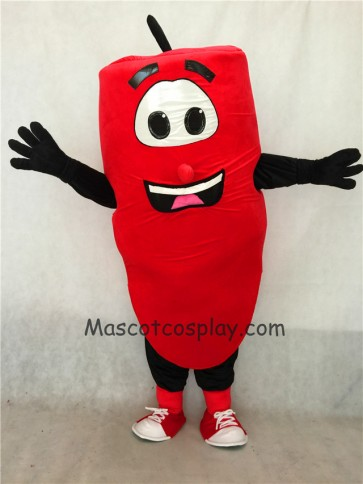 Red Hot Pepper Mascot Costume with Smile