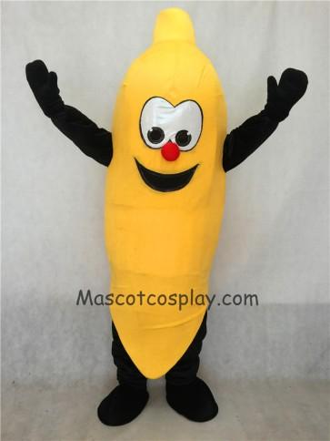 Happy Yellow Banana Mascot Costume
