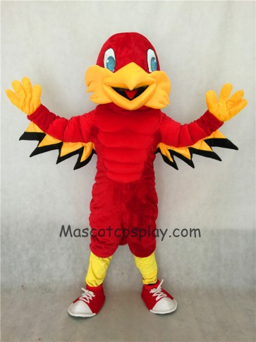 Red Mighty Eagle Mascot Costume