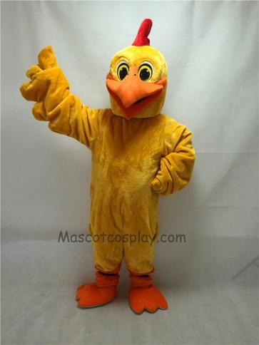 Cute New Long Hair Plush Chicken Doodle-Doo Mascot Costume