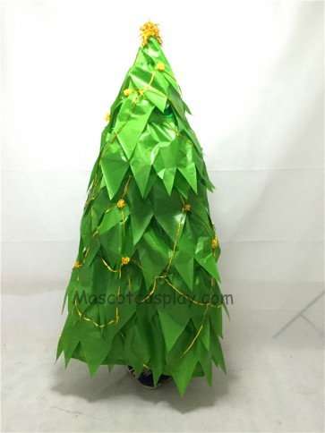 Cute New Green Decorated Christmas Tree Mascot Costume