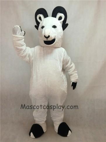 White Sheep Big Horned Mascot Costume