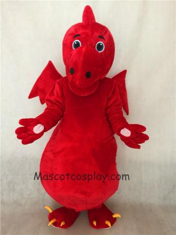 Red Stegosaurus Dragon Adult Mascot Costume