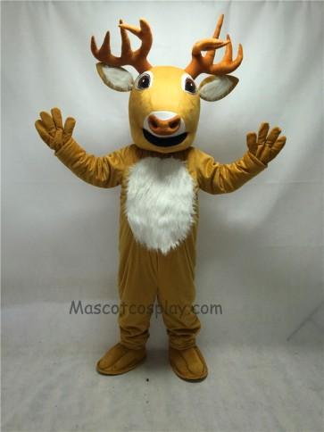 Cute New Long Horn Deer Mascot Costume