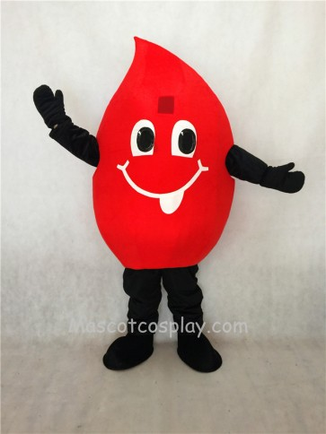 Red Blood Drop Mascot Costume