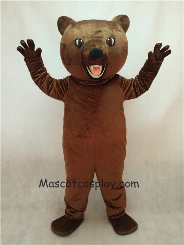 Brown Fierce Grizzly Bear Mascot Costume