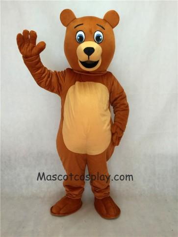 Brown Jolly Happy Bear Mascot Costume