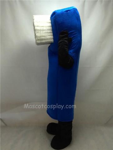 Cute Blue Toothbrush Mascot Costume