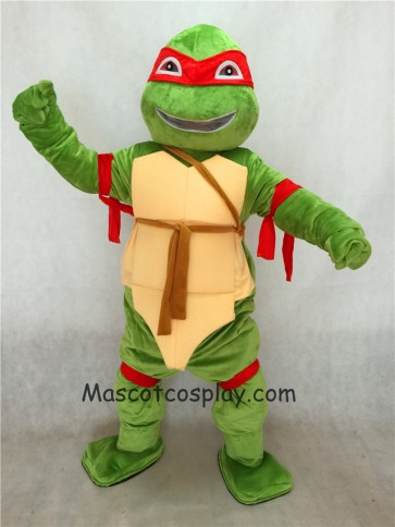 Red Raphael TMNT Teenage Mutant Ninja Turtle Mascot Adult Character Costume Birthday Party Fancy Dress Outfit