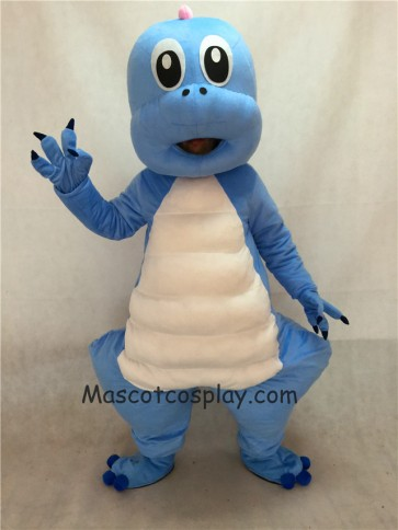 Cute Blue Dragon Cute Cartoon Dinosaur Mascot Costume