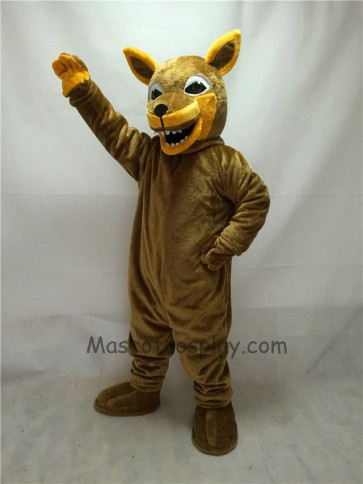 Fierce Brown Coyote Wolf Mascot Costume