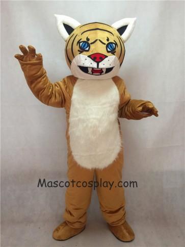 Light Yellow Brown Wildcat Cub Mascot Costume